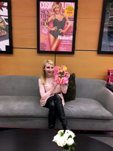 Regular writer Julianne Mosher interning at Cosmo.